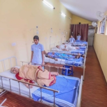 Our Nurses conducting personal checkups on the patients