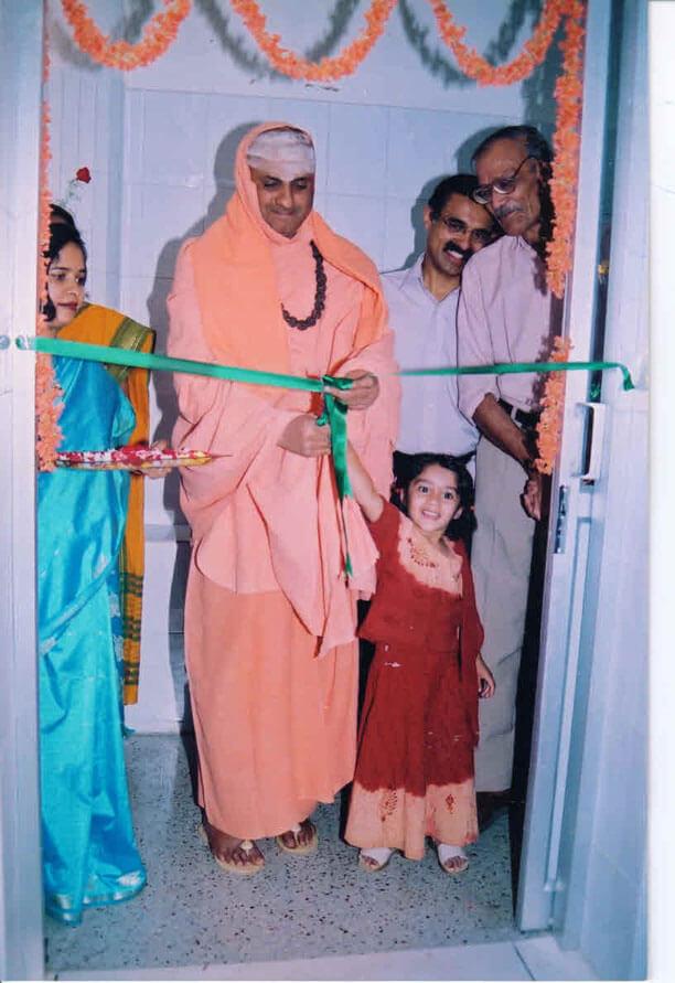 "Chemotherapy ward constructed and inaugurated by ""His Holiness Jagadguru Sri Shivarathri Deshikendra Mahaswamiji""."